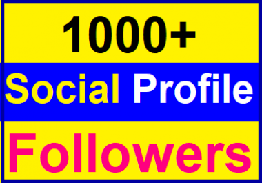 Add 1000+Social Profile Followers High Quality Instant Start