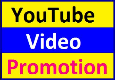 Organic YouTube Video Marketing & Social Media Promotion Instant Start