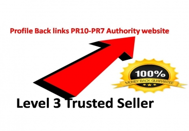 12 Profile Back links PR10-PR7 Authority website