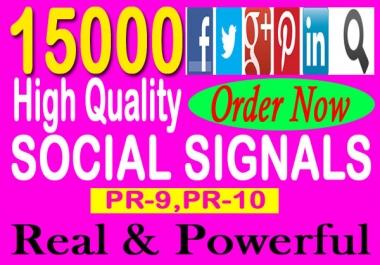 Give You 15000 Top Quality PR9-PR10 Social Signals