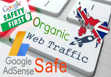 Adsense Safe,Uk Target,Organic Website Traffic,Real Visitors