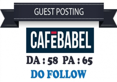I Will Do Guest Post On Cafebabel.Co.Uk With Dofollow Link Indexed
