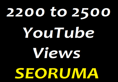 Safe 2200 to 2500 HR , YouTube Views Refill Guaranteed  very fast delivery