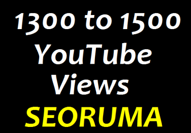 Instant 1300 to 1500 HR Real YouTube Views +33 YouTube Likes +3 YouTube comments Refill Guaranteed in 24 hours completed just