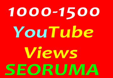 Instant start 1000 to 1500 HR Real YouTube Views non drop Refill Guaranteed in 24-96 hours completed just