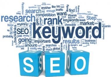 Provide SEO Keyword Research