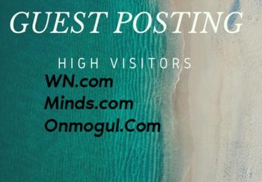 Post Your Articles To WN.com,Minds.com and Onmogul.com