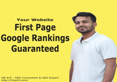 I will Google First Page Rank Your Website