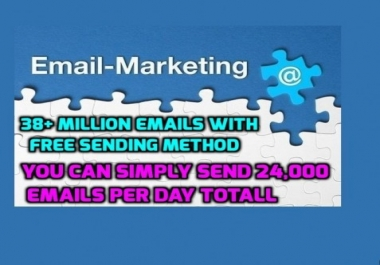 Get 1000 Million Emails With Free Sending Method