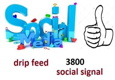 i do drip feed, 2300 manually social signal
