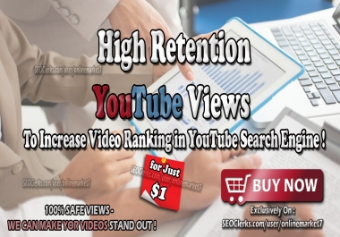 High Retention YouTube Traffic to Boost Video Views for 30 days