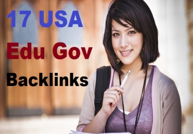 17 USA (World Wide) Edu Gov Backlinks for you