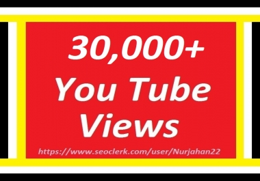 Happy New Year Offer Add 30,000+non drops YouTube Views 24-48 hours  in complete