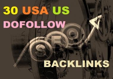 30 usa us dofollow backlinks manually for you