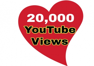 Provide You 20,000 Or 20K Youtube Views Non Drop Super Speed