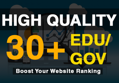 Add 30+ Edu/Gov High Quality Profile Backlinks within a day