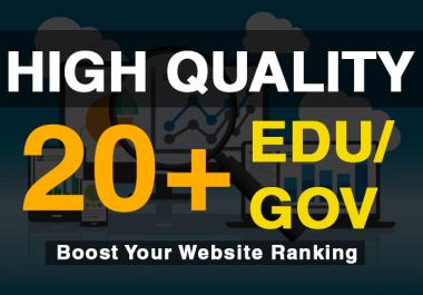 Add 20+ Edu/Gov High Quality Profile Backlinks within a day