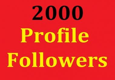 2000 Social Profile Followers Non Drop