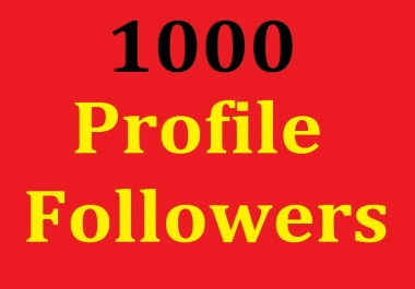 1000 High Quallity Social Profile Follower