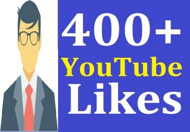 400+ Real You'tube Li'kes Stable Guarantee Instant