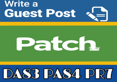 Publish a Guest Post on Patch PR7 DA 83 TF42 CT46