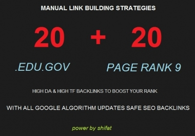 40 SEO Backlinks, From High Authority Domains