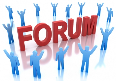 Provide you 40 High quality forum posting