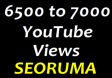 6500 TO 7000 High Quality YouTube views non drop guaranteed in 2/3 days completed