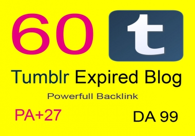 Page 1 Ranking with  60+  PBN Expired Tumblr PA 28+