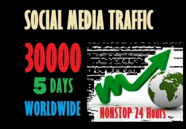 30000 Web traffic from Social Media sites
