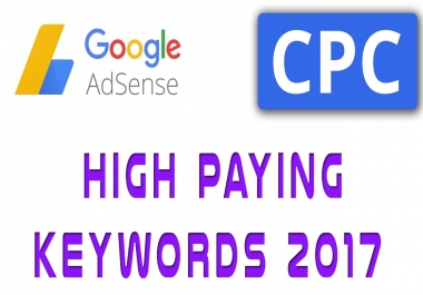 Top 100 Google adsense high CPC keywords list get 1000$ per click