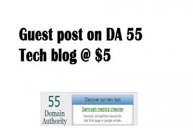 Will Publish Guest Post On Pr 4 Da 30 Tech Blog