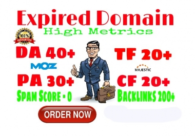 4 Expired Domain With High Metrics