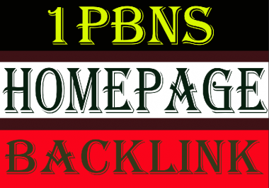 Create 1 PBN Backlink Home Page Link with 500 words Article