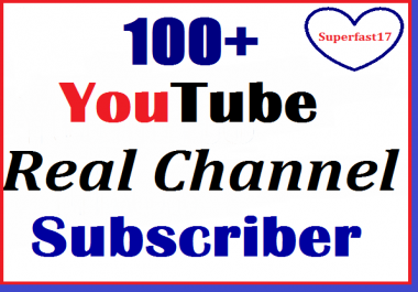 Instant start 100+ Youtube Subscriber non drop refill guaranteed