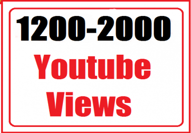 1200-2000+ youtube views non drop very fast refill