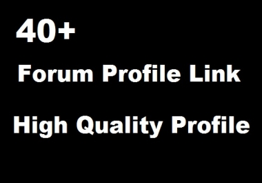 Manual 40 Authority Forum Profile Links to Boost Rank