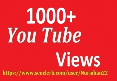 Safe 1000+Non Drops YouTube Views+10 YouTube Likes 12-24 Hours in complete