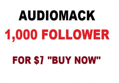audiomack 1000 follower to your profile