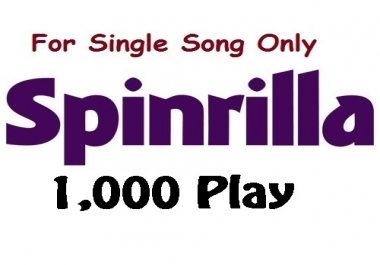 single 1000 play for single track song spinrilla