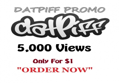 datpiff 5,000 views within few hours