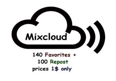 mixcloud 140 favorites + 100 repost