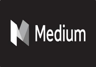 write and publish a HQ guest post on medium.com DA92