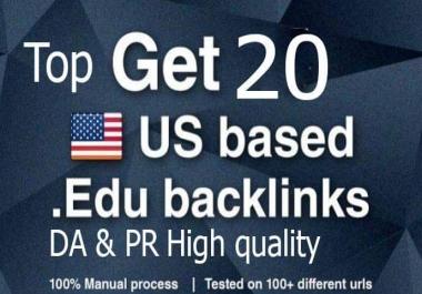 Give you 20 usa edu and gov backlink high quality