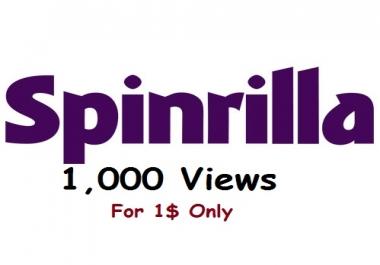 spinrilla 1,000 views to your mixtape