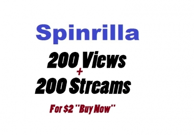 spinrilla 200 views + 200 streams only for mixtape