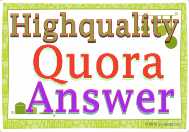 Promote Your website with 50 High Quality Quora Answer Backlinks