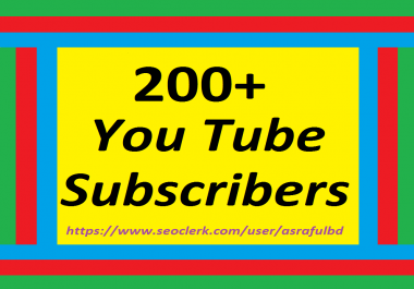 200+Youtube Subscribers Chaneel Promotimon Or 500+Youtube Likes Super Speed any drop Refill Guaranteed