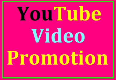 YouTube Video Marketing Social Media Promotion Very Fast Delivery