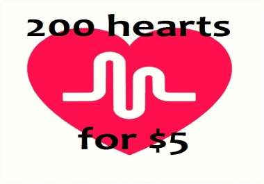 Greatest 200 Hearts Will be Added to Your Musical.ly Videos Just